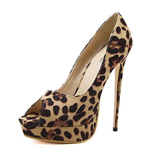 CHAUSSURES FEMME Escarpins Femmes, Manadlian Ete Plateforme 15CM Escarpins Peep Toe 3CM Plateforme Talon Chaussures Open Toe Chaussures Club Soiree
