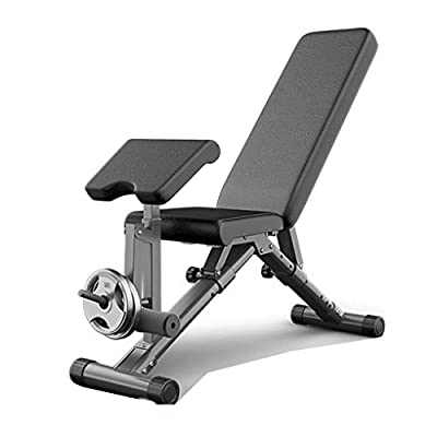 ZYD Adjustable Folding Gym Weight Bench,Multifunctional Dumbbell Stool,Flat Incline Decline Multiuse Exercise Workout Bench,Black
