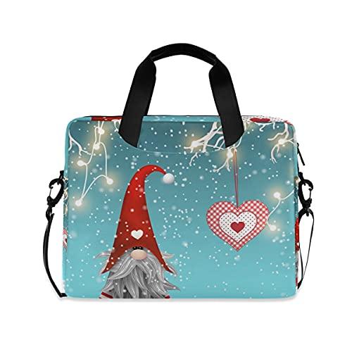 LIFE5LCL - Maletín de viaje con correa para el hombro, diseño de Papá Noel con corazón y nieve