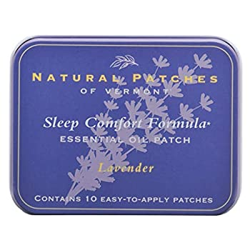 Natural Patches Of Vermont Lavender Sleep Comfort Essential Oil Body Patches 10-Count Tin