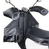 Cubrepiernas para Scooter Impermeable Cubrepiernas Moto Fundas para Motos De Felpa Engrosado para Motocicletas Scooter Electric Cars, Negro