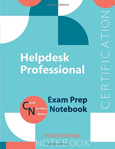 """Helpdesk Professional Certification Exam Preparation Notebook, examination study writing notebook, Office writing notebook, 154 pages, 8.5"""" x 11"""", Glossy cover"""