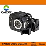 ELP-LP50 V13H010L50 Replacement Projector Lamp for Epson EB-824 EB-825 EB-826W EB-84 EB-84e EB-84he EB-85 EMP-825 EMP-84he PowerLite 826 EB-84H EB-84EDU, Lamp with Housing by CARSN