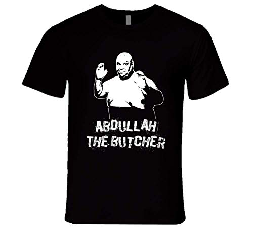 MESUSISIY Abdullah The Butcher Retro Legends of Wrestling for Men Woman T Shirt Unisex T-Shirt (Black-M)