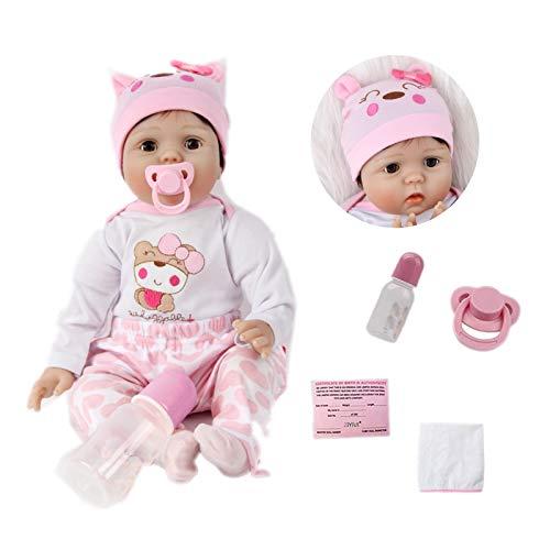 ZIYIUI 22 Inch 55 cm Reborn Baby Doll Silicone Soft Vinyl Lifelike Realistic Dolls Newborn Boy Realistic Quality Reborn Doll children Ages 3+ Gift Toy