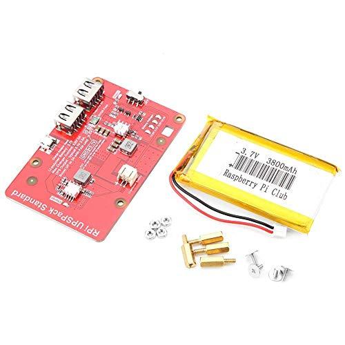 WEI-LUONG Batterieerweiterungskarten, 5V 3A USV-Li-Batterie-Erweiterungskarte mit 3800mAh Li-Batterie mit Überstromschutz Installation Zubehör für Raspberry Pi Tafel