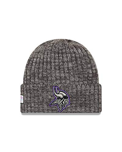 New Era Minnesota Vikings Beanie NFL 2019 On Field Crucial Catch Knit Graphite -...