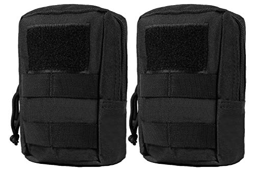 LefRight 2 Pack MOLLE Pouches Multi-purpose Compact Tactical Accessory Waist Bags Small Utility Pouch