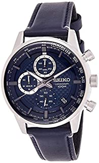 Seiko Mens Chronograph Quartz Watch with Leather Strap SSB333P1 (B07NQ9PQYW) | Amazon price tracker / tracking, Amazon price history charts, Amazon price watches, Amazon price drop alerts
