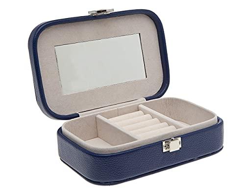 Philip Whitney Joyero organizador caja de almacenamiento para pulseras, pendientes, anillos, collares, broches – azul