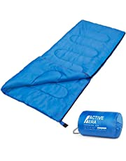 Premium-dekenslaapzak, lichte slaapzak met ritssluiting binnen en buiten Camping slaapzak voor volwassenen en kinderen Lichte zomer-blauw