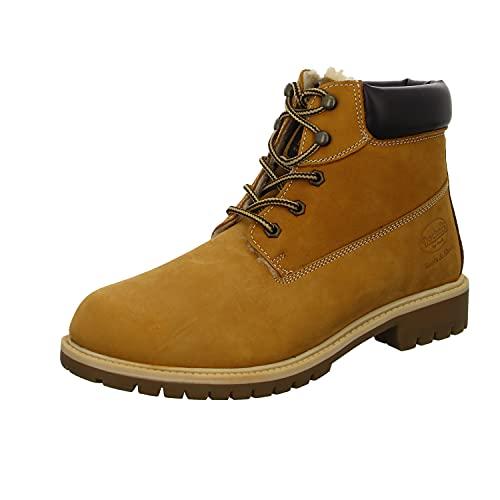 Dockers by Gerli Classic Boot Illinois, Botas de Moda Hombre, Bronceado Dorado, 43 EU