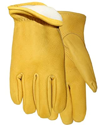 American Made Genuine Buckskin Leather Thinsulate Lined Work Glove