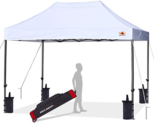 ABCCANOPY Patio Pop Up Canopy Tent 10x15 Commercial-Series (White)
