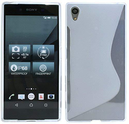 ENERGMiX Silikon Hülle kompatibel mit Sony Xperia Z5 Premium Schutzhülle Gel GummiHülle Cover Case Schale in Transparent