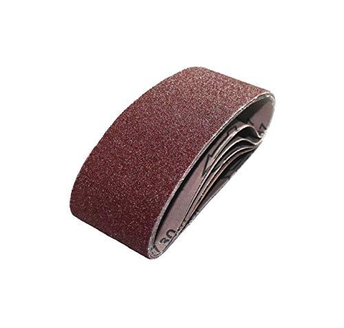 25 Schleifbänder gemischt K40/60/80/120/180 Schleifband f. Bandschleifgeräte 75x533 mm │Schleifbandset │ P-D-W®