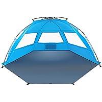 TAGVO Pop Up Beach Tent XL Sun Shelter con Puerta de Entrada, Fácil de Instalar Tear Down, Portable Canopy