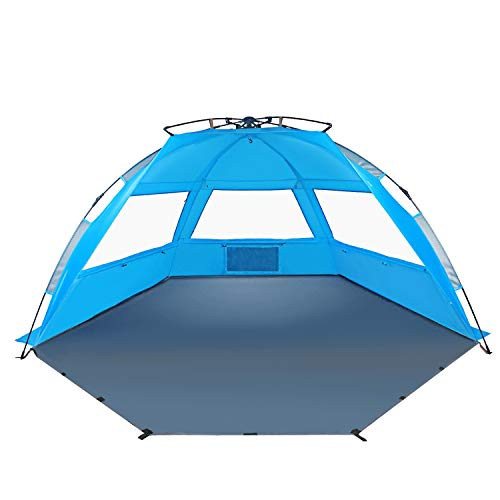 TAGVO Pop Up Beach Tent XL Sun Shelter con Puerta de Entrada