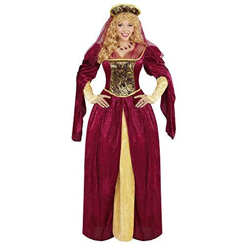 Widmann 05592 - Erwachsenenkostüm Royal Queen, Kleid und Kopfbedeckung mit Schleier, Größe M