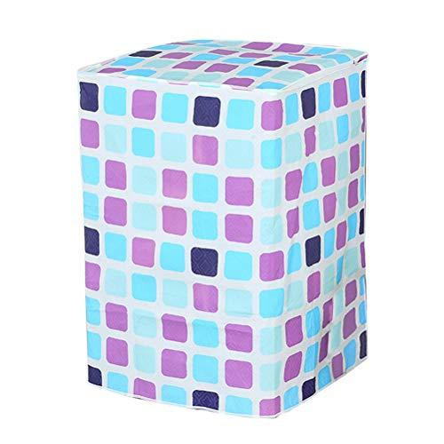 VORCOOL - Funda impermeable para lavadora (rejillas azules y moradas)