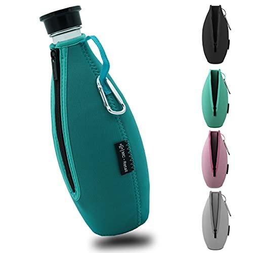 SodaSafe® Schutzhülle [Mint] #flaschentaschen für SodaStream Zubehör für Crystal Glaskaraffe [KÜHLEND/WÄRMEND] | Bruchschutz Neopren Hülle für Glasflaschen von SodaStream