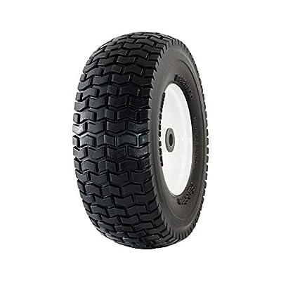 "Marathon 30326 13x5.00-6"" Flat Free Lawnmower Tire on Wheel 3"" Hub, 3/4"" Bushings"