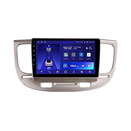 2 DIN Car Stereo HD Pantalla Táctil Soporte Llamadas Manos Libres/BT/Navegación GPS/Cámara De Visión Trasera/1080P Video/DSP/4G, para Kia Rio 2 2005-2011 Radio De Coche,Octa Core,4G WiFi 4+64