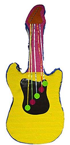 Party Palast - Piñata Gitarre Kindergeburtstag Party Dekoration Pinata Füllung, 79x31x9cm, Gelb