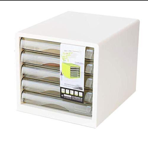 Archivador Espacio de Almacenamiento Diseño Transparente extraíble Grande Archivo de Capa separada del gabinete de Escritorio Independiente de plástico Impermeable de plástico - 27.5x34x26cm librero