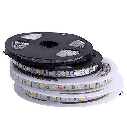 H/A Tira de LED 5050 RGB RGBW RGBWW 24V 5M Impermeable 60 LED/Tiras de Leds 24 v Impermeable Tira de Cable LED Flexible Decoración de Tira de luz AZHAA (Emitting Color...