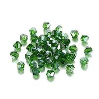 SHUOYUE 200個の透明度クリスタルビーズビーコンガラスビーズルーススペーサービーズのためのブレスレットイヤリングジュエリー作り (Color : Dark Green AB)