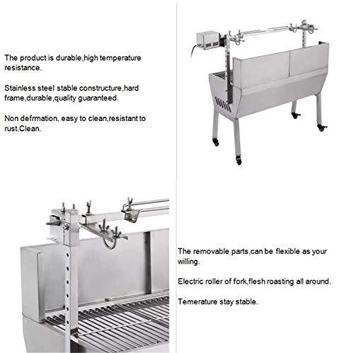 41kjvxvoL1L - DHYBDZ Grill, Grill, Elektrospießröster Grillgrill Raucher 132 Pfund Lager Grill Schweinespießröster Lammgrill mit Elektromotorgrill