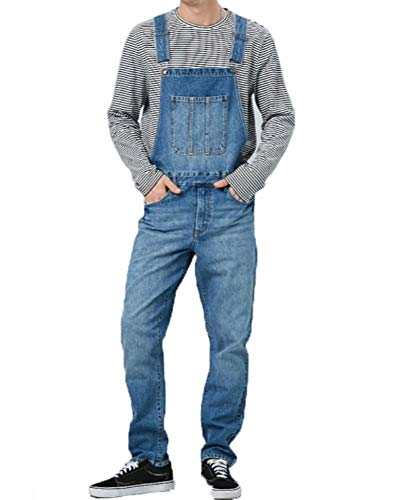 Herren Denim Overalls Casual Pants Loose Pants Bib Pants Herren Fashion Hip Hop Jumpsuit Trägerhose