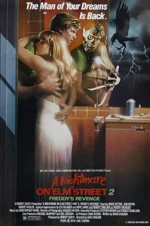 Nightmare ON ELM Street 2 - Freddy's Revenge – Movie Wall Poster Print – A4 Size Plakat Größe Freddy Krueger