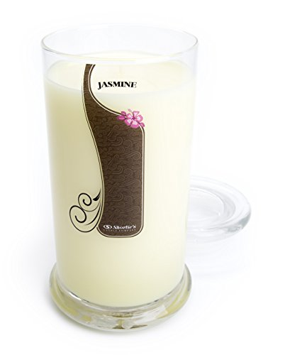 Pure Jasmine Candle - Large Yellow 16.5 Oz. Highly Scented Jar Candle - Made with Essential & Natural Oils - Flower & Floral Collection