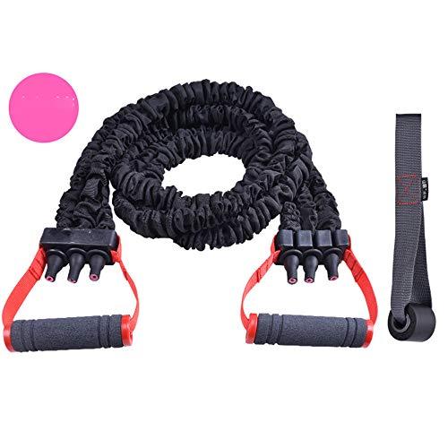 YSCYLY Widerstandsband Set,Antibreaking Resistance Rope,Zu Hause Ganz-KöRper Trainer FitnessbäNder Set