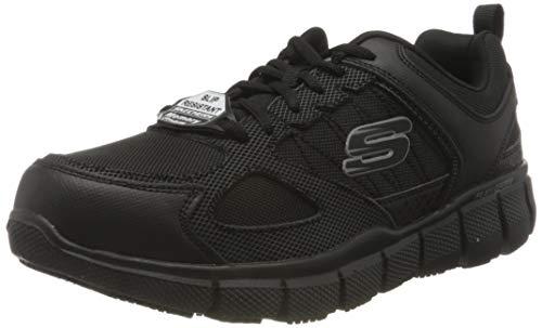 Skechers TELFIN SANPHET, Zapatillas Hombre, Negro, 41 EU