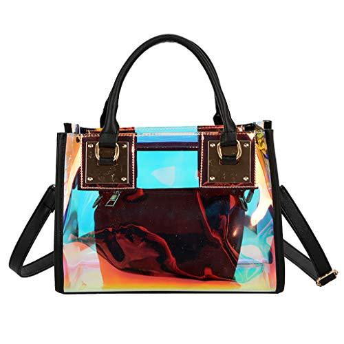Zyuer Women's Transparent Shoulder Bag Black Size: One Size