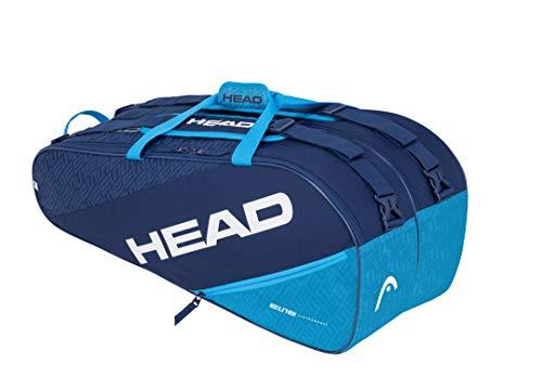 HEAD Elite 9R Supercombi, Borsa per Racchetta Unisex Adulto, Navy/Blu