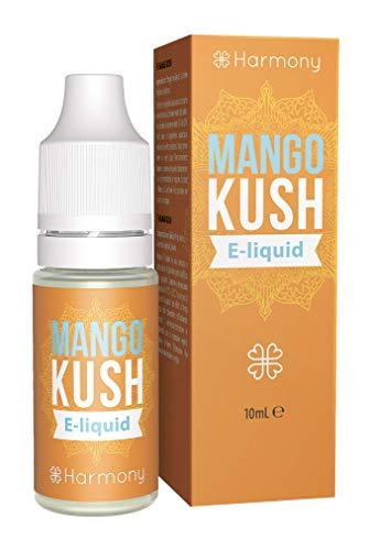 Harmony CBD E-Liquid (über 99{5789111d1eb4dbfc218d6817cc4cad7c5e122632d8b8f3b2f5cb68ead2bfc485} Reinheit) - Terpene von Mango Kush - 600mg CBD in 10 ml - nikotinfrei
