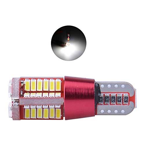 Desconocido moregirl 1 Uds T10 168192 W5W 57SMD 3014 LED Canbus sin Error luz de Marcador de Coche lámpara de estacionamiento 57smd Bombilla de cuña de Motor Blanco/Rojo/Pin