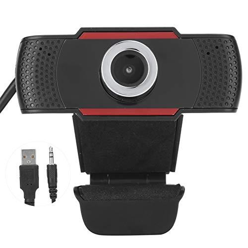 Exliy Cámara Web 720P con micrófono, admite Enfoque Manual, corrección automática de luz, Video