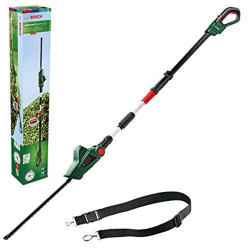 Bosch Cordless Telescopic Hedge Trimmer UniversalHedgePole 18 (Without Battery, 18 V System in Cardboard Box)