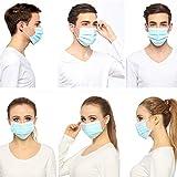 Ricky-H のマスク,医療マスク,使い捨て マスク,3層フィルタ保護,風邪、花粉、pm2.5、流行性ウイルスに適しています,50枚入,男性と女性の両方が使用でき 4日以内に到着しました
