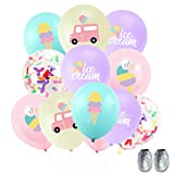 UTOPP 50pcs Ice Cream Party Balloons with Sprinkles Confetti Balloons for Ice Cream Birthday Party,Ice Cream Cone Balloons,Ice Cream Truck Balloons for Ice Cream Themed Baby Shower,Kids Sweet Birthday Decorations