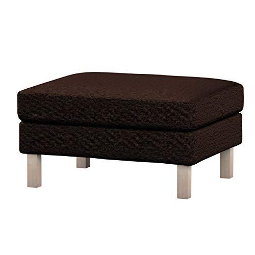 Dekoria Karlstad Hockerbezug Husse passend für IKEA Modell Karlstad braun