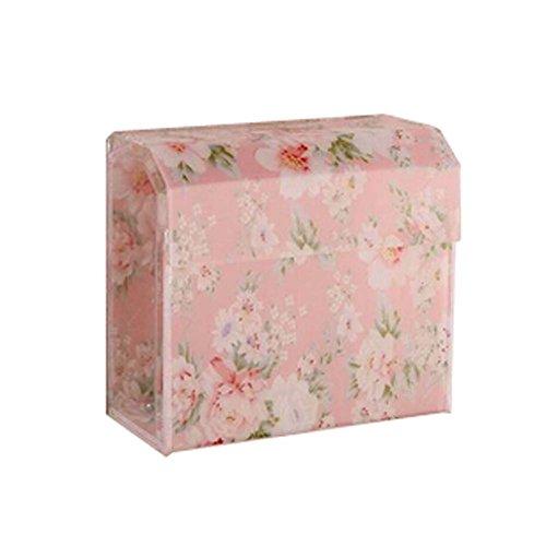 Les porteurs de tissus Fleurs Couleur Rose acrylique pour WC pour salle de bains