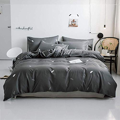Silk Bedding Sets King Size, Duvet Cover Double Set Green, Duvet Cover Sets Bedding Sets King Size Full Satin Silk Soft Silky 4 Piece Comforter Cover Set Adult Double Flat Sheet