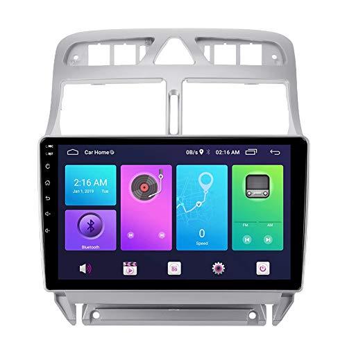 XXRUG Android Car Stereo Sat Nav para Peugeot 307 2002-2013 Unidad Principal Sistema de navegación GPS SWC 4G WiFi BT USB Mirror Link Carplay Incorporado