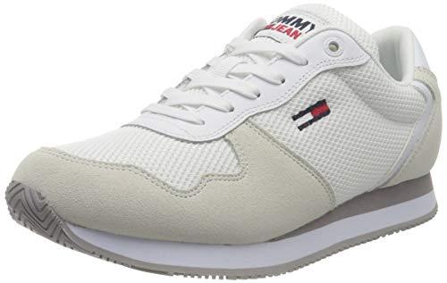 Tommy Jeans Mono Sneaker Mujer, Blanco, 38.5 EU